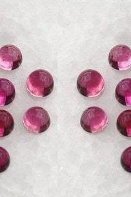 Natural Pink Tourmaline 3mm 100 Pieces Lot Cabochon Round Pink Color Top Quality Loose Gemstone
