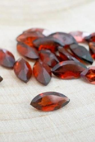Natural Red Garnet 7x3.5mm 25 Pieces Lot Faceted Cut Marquise Red Color Top Quality Loose Gemstone