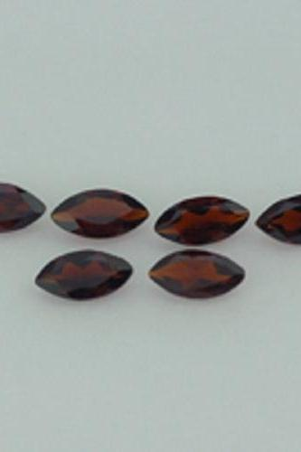 Natural Red Garnet 4x8mm 5 Pieces Lot Faceted Cut Marquise Red Color Top Quality Loose Gemstone