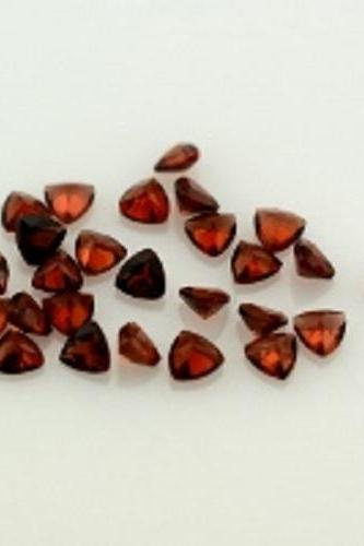 Natural Red Garnet 5mm 100 Pieces Lot Faceted Cut Trillion Red Color Top Quality Loose Gemstone