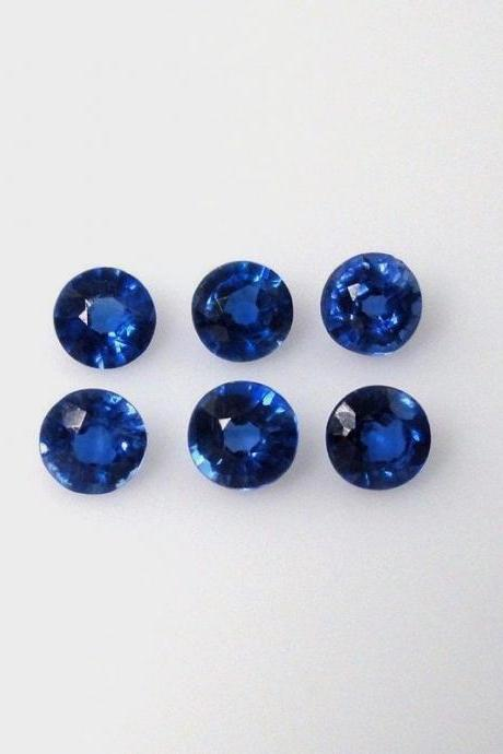 Natural Kyanite 5mm 5 Pieces Lot Faceted Cut Round Blue Color Top Quality Loose Gemstone