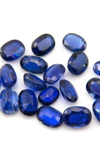 Natural Kyanite 3x4 mm 5 Pieces Lot Faceted Cut Oval Blue Color Top Quality Loose Gemstone