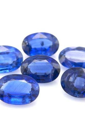 Natural Kyanite 7x9mm 2 Pieces Faceted Cut Oval Blue Color Top Quality Loose Gemstone