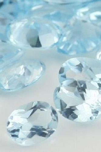 Natural Sky Blue Topaz 7x5mm 50 Pieces Lot Faceted Cut Oval Blue Color - Natural Loose Gemstone