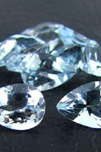 Natural Sky Blue Topaz 7x5mm 10 Pieces Lot Faceted Cut Pear Blue Color - Natural Loose Gemstone