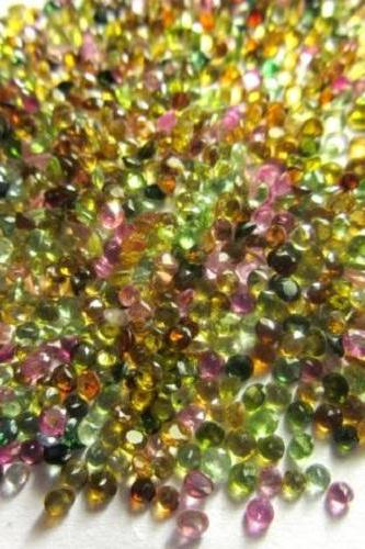 Natural Multi Tourmaline 3.5mm 100 Pieces Lot Faceted Cut Round Multi Color - Natural Loose Gemstone