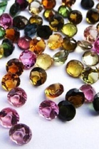 Natural Multi Tourmaline 5mm 100 Pieces Lot Faceted Cut Round Multi Color - Natural Loose Gemstone