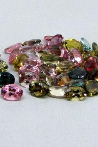 Natural Multi Tourmaline 5x3mm 100 Pieces Lot Faceted Cut Oval Multi Color - Natural Loose Gemstone
