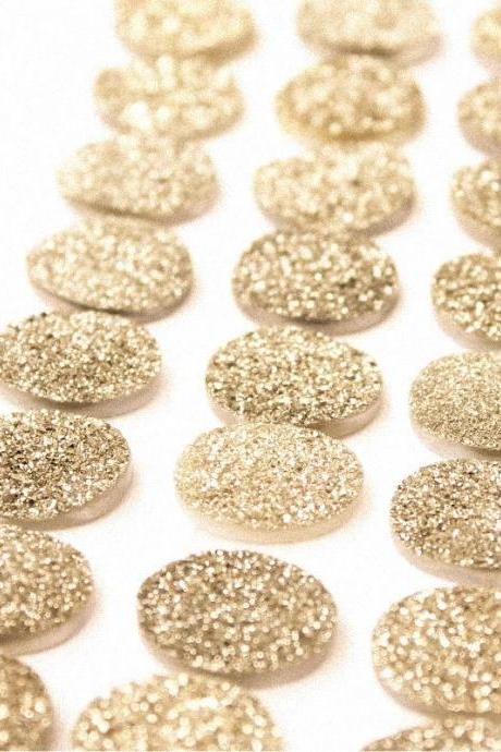 Natural 10x12mm 25 Pieces Gold Color Coating Flat Druzy Oval Best Top Gold Color Gemstone Lot