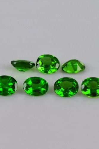 Natural Chrome Diopside 3x4mm 10 Pieces Lot Faceted Cut Round Green Color - Natural Loose Gemstone