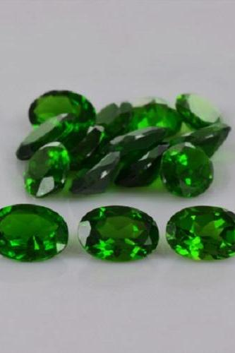 Natural Chrome Diopside 6x8mm 25 Pieces Lot Faceted Cut Round Green Color - Natural Loose Gemstone