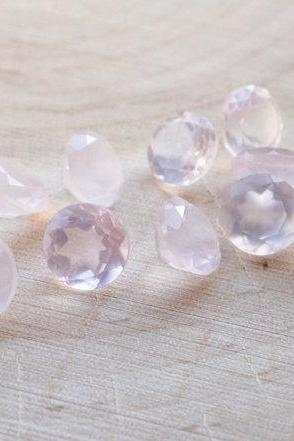 Natural Rose Quartz - 8mm 25 Pieces Lot Faceted Cut Round Pink Color - Natural Loose Gemstone