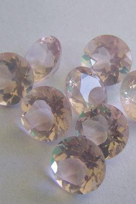 Natural Rose Quartz - 9mm 25 Pieces Lot Faceted Cut Round Pink Color - Natural Loose Gemstone