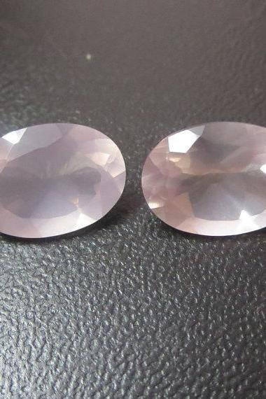 Natural Rose Quartz - 12x16mm 25 Pieces Lot Faceted Cut Oval Pink Color - Natural Loose Gemstone