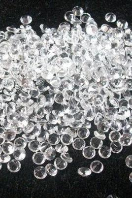 Natural White Topaz Calibrated Size 1.25mm, 1.5mm 10 Pieces Lot Faceted Cut Round Natural - Loose Gemstone