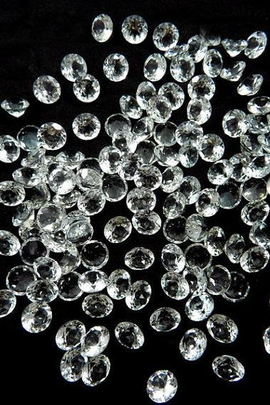 Natural White Topaz Calibrated Size 6mm 50 Pieces Lot Faceted Cut Round Natural - Loose Gemstone