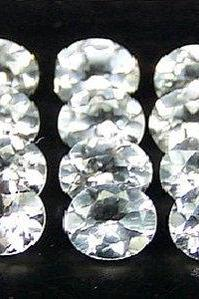 Natural White Topaz Calibrated Size 9x7mm 50 Pieces Lot Faceted Cut Oval Natural - Loose Gemstone