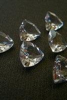 Natural White Topaz 4mm 25 Pieces Lot Faceted Cut Trillion Top Quality White Color Natural - Loose Gemstone