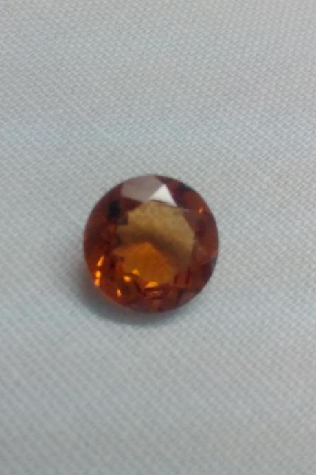 8mm Natural Hessonite Garnet - Faceted Cut Round 1 Pieces Top Quality Brown Red Color - Loose Gemstone Wholesale Lot For Sale