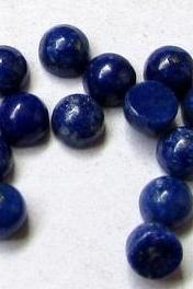 10mm Natural Lapis Lazuli - Cabochon Cut Round 100 Pieces Top Quality Blue Color - Loose Gemstone Wholesale Lot For Sale