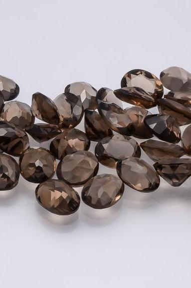 Natural Smoky Quartz 3mm Faceted Cut Round 25 Pieces Lot Brown Color Top Quality - Natural Loose Gemstone Wholesale Lot For Sale