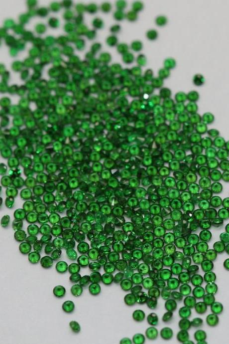 Natural Tsavorite 2.25mm 75 Pieces Lot Faceted Cut Round AAA Green Color Top Quality Loose Gemstone