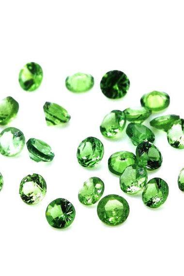 Natural Tsavorite 4mm 2 Pieces Faceted Cut Round AAA Green Color Top Quality Loose Gemstone