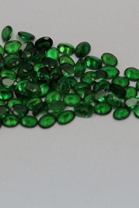 Natural Tsavorite 6x4mm 1 Piece Faceted Cut Oval AAA Green Color Top Quality Loose Gemstone