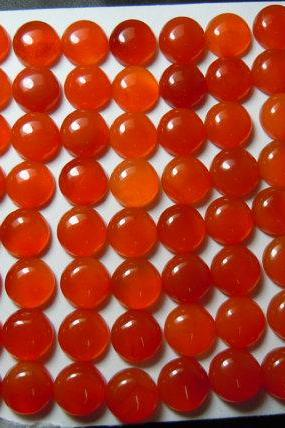 Natural Carnelian 4mm Cabochon Round 50 Pieces Lot Orange Color - Natural Loose Gemstone
