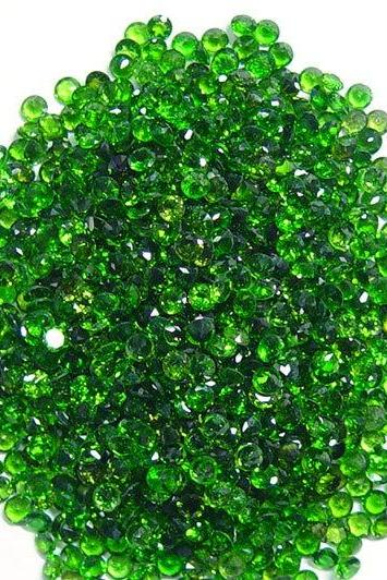 Natural Chrome Diopside- 2mm 25 Pieces Lot Faceted Round Calibrated Size Green Color - Loose Gemstone