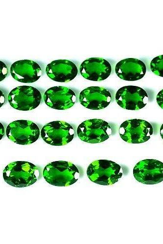Natural Chrome Diopside- 3x4mm 5 Pieces Lot Faceted Oval Calibrated Size Green Color - Loose Gemstone