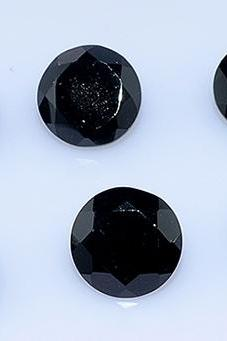 9mm Natural Black Spinel Faceted Cut Round 2 Pieces Lot Top Quality Black Color Loose Gemstone Wholesale Lot For Sale