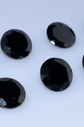 10mm Natural Black Spinel Faceted Cut Round 25 Pieces Lot Top Quality Black Color Loose Gemstone Wholesale Lot For Sale