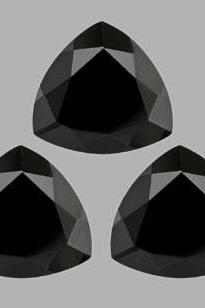 10mm Natural Black Spinel Faceted Cut Trillion 2 Pieces Lot Top Quality Black Color Loose Gemstone Wholesale Lot For Sale