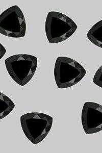 12mm Natural Black Spinel Faceted Cut Trillion 25 Pieces Lot Top Quality Black Color Loose Gemstone Wholesale Lot For Sale