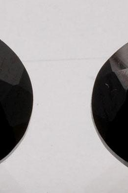 16x12mm Natural Black Spinel Faceted Cut Oval 2 Pieces Lot Top Quality Black Color Loose Gemstone Wholesale Lot For Sale