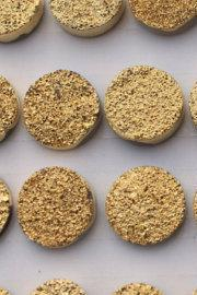 9mm Natural Gold Druzy Color Coating Flat Druzy 10 Pieces Round Best Top Gold Druzy Color Loose Gemstone Wholesale Lot For Sale
