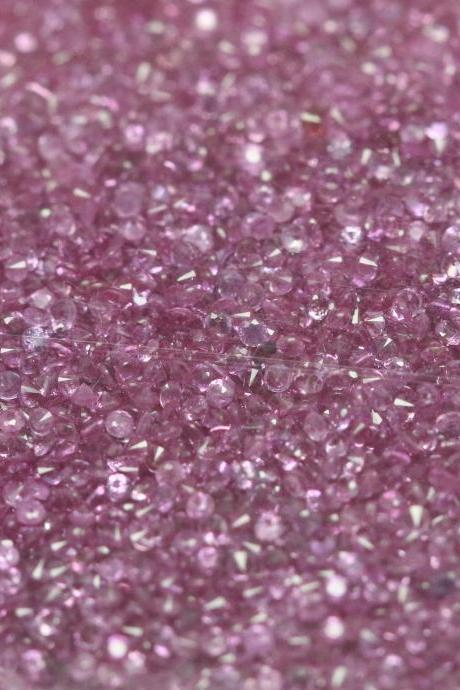 Natural Pink sapphire 1.3mm 10 Pieces Lot Faceted Cut Round Pink Color Top Quality Loose Gemstone