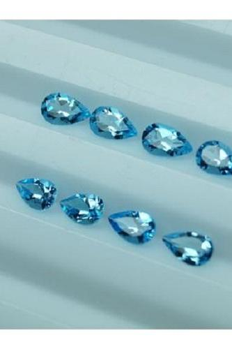 Natural Sky Blue Topaz 4x3mm 100 Pieces Lot Faceted Cut Pear Blue Color - Natural Loose Gemstone