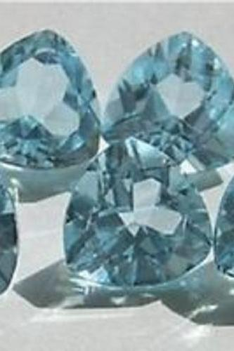 Natural Sky Blue Topaz 7mm 2 Pieces Lot Faceted Cut Trillion Blue Color - Natural Loose Gemstone