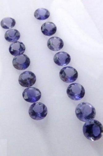 2.75mm Natural Iolite Faceted Cut Round 10 Pieces Lot Faceted Cut Blue Color - Natural Loose Gemstone
