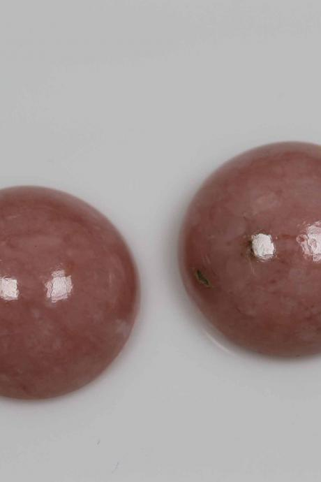 10mm Natural Pink Opal 10 Pieces Lot Cabochon Round Top Quality Pink Color Loose Gemstone Wholesale Lot For Sale