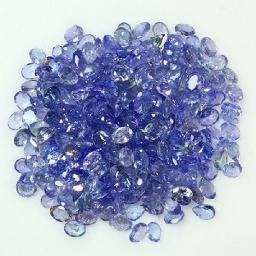 Natural Tanzanite 6x8mm 25 Pieces Lot Faceted Cut Oval Top Quality A Color - Loose Gemstone