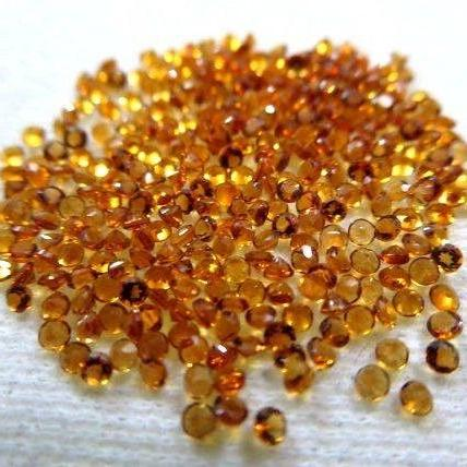 Natural Citrine - 2.5 mm 100 Pieces Lot Calibrated Size Faceted Cut Round Yellow Color - Natural Loose Gemstone