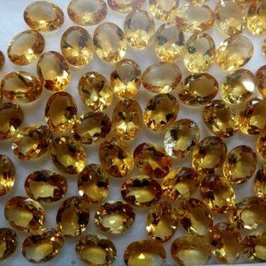 Natural Citrine - 4x3mm 100 Pieces Lot Calibrated Size Faceted Cut Oval Yellow Color - Natural Loose Gemstone