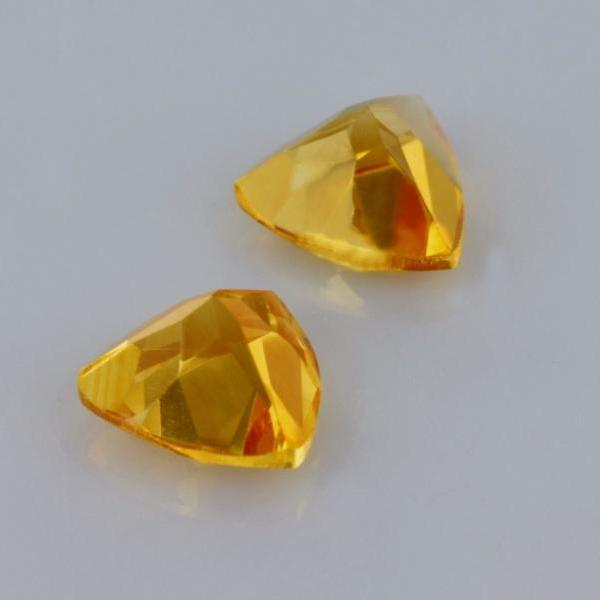 Natural Citrine - 8mm 50 Pieces Lot Calibrated Size Faceted Cut Trillion Yellow Color - Natural Loose Gemstone