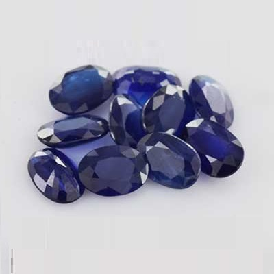 Natural Blue Sapphire 5x7mm 10 Pieces Lot Faceted Cut Oval Blue Color Top Quality Loose Gemstone