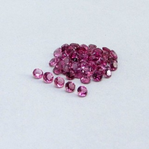 Natural Pink Tourmaline 3.5mm 25 Pieces Lot Faceted Cut Round Pink Color Top Quality Loose Gemstone