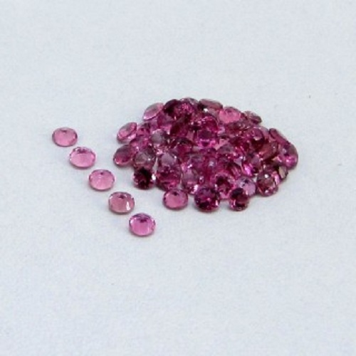 Natural Pink Tourmaline 3.5mm 50 Pieces Lot Faceted Cut Round Pink Color Top Quality Loose Gemstone