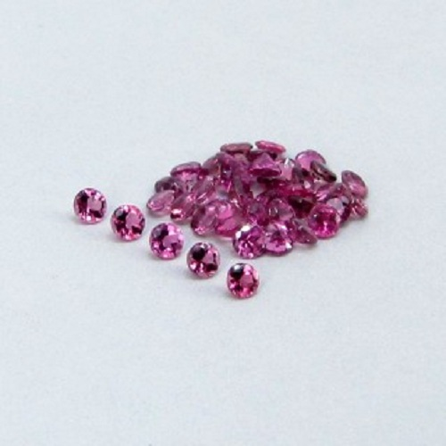 Natural Pink Tourmaline 4mm 5 Pieces Lot Faceted Cut Round Pink Color Top Quality Loose Gemstone